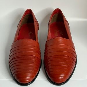 Giorgio Brutini Red Loafers Vintage